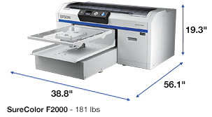 SureColor F2000 t shirt printer left angle
